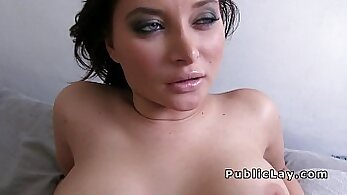 Busty platinum babe Elea fucks for money