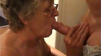 Big-boobied granny gets fucked