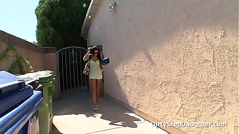 StepMother Fondles Stepdaughter Next Door Business Dude