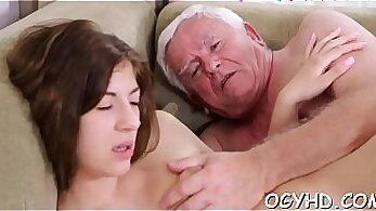 blonde getting mally drilled by young stud