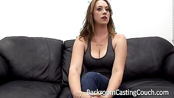 business woman fisted on the table and cum swallowing