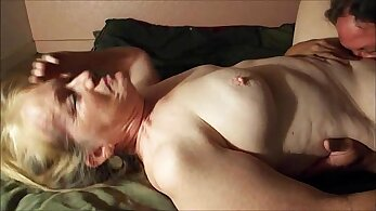 Giselle Dior gets rammed by granny with huge knob and orgasm