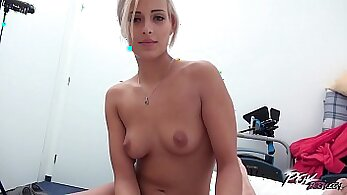 blonde love big cock so she let me cum in her face