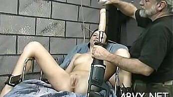 Bondage Tanya playing with her pussy in the bed