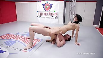 Busty girl Raylene puts her mouth on kinky girls cock and gets naked