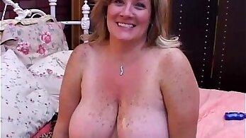 Funny chubby mature GF sucking cock fuck