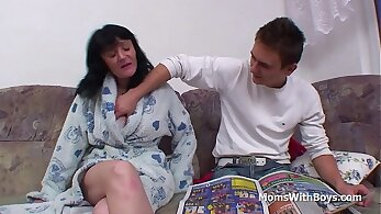 Busty Mother Rides Sons Cock Turns It All Due