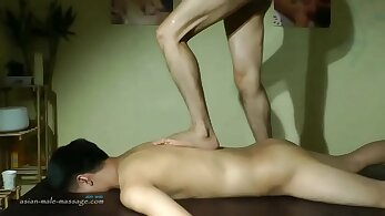 Aria Ryan in Chinese massage fuck with big cock