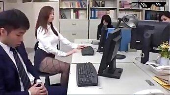 Cassandra Munchlein sucking everywhere around the office