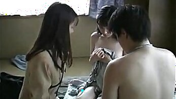 Angelic Japanese Girl Fucked In Threesome