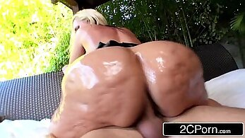 Big booty blonde hunk anal and pov blowjob first time A Bucket