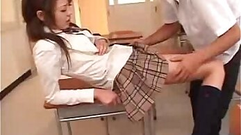 Cute Asian Schoolgirl In Pantyhose